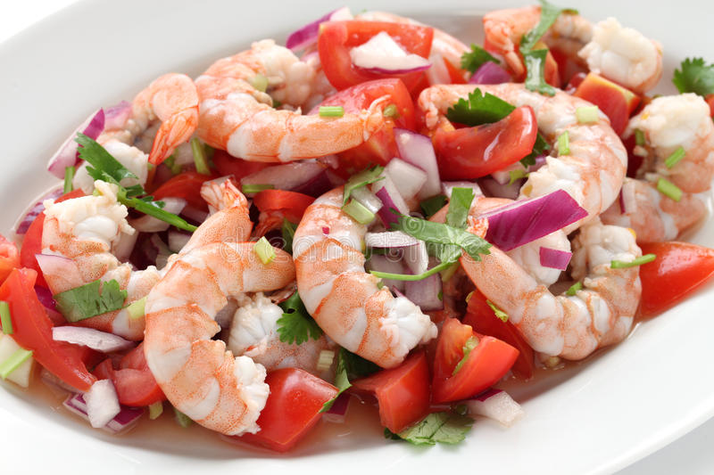 Ceviche do camarão foto de stock royalty free