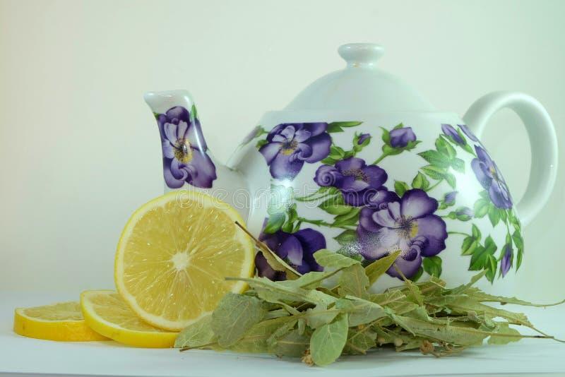 O chá do Linden foto de stock