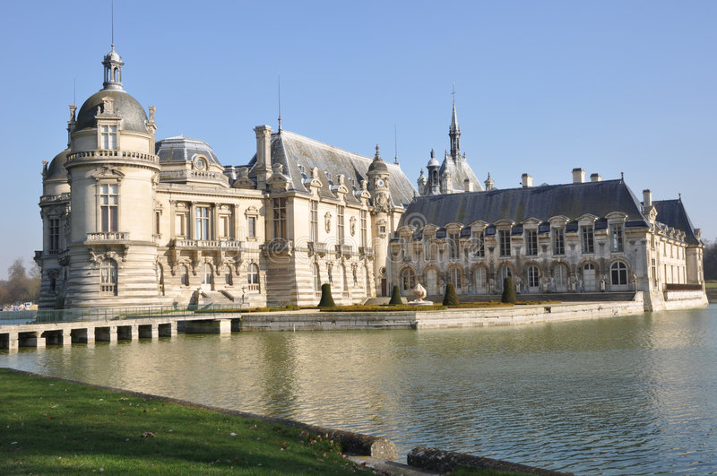 O Château de Chantilly foto de stock