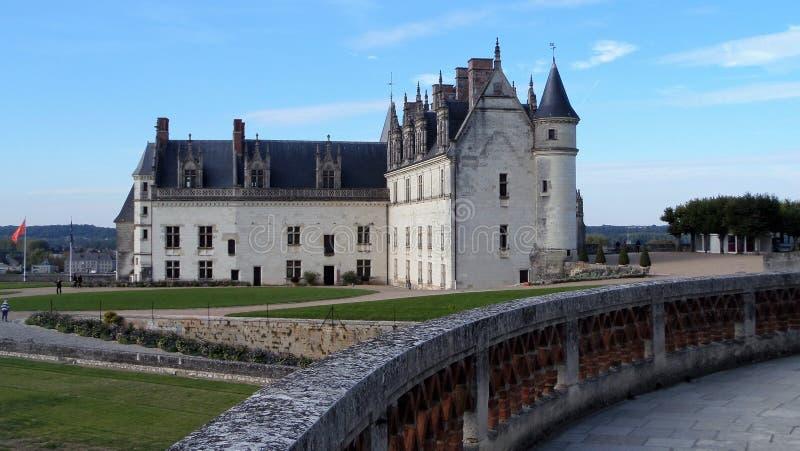 O Château real em Amboise é um château situado em Amboise, no département do Indre-et-Loire do Loire Valley em França fotografia de stock royalty free