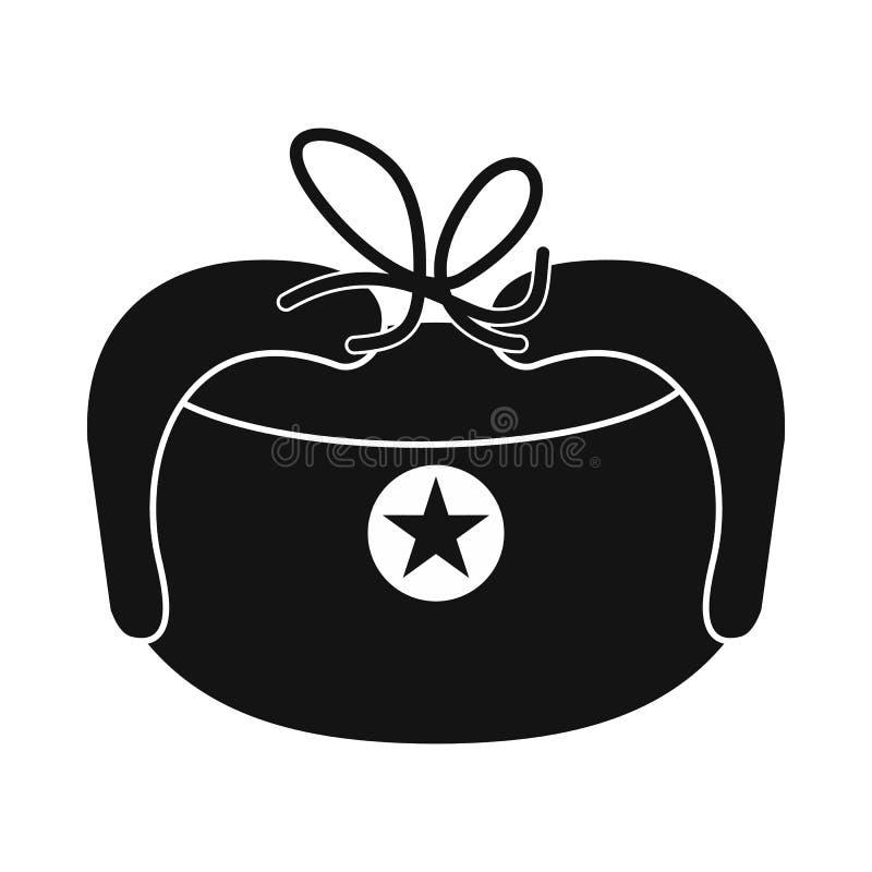 O chapéu com orelha bate o ícone, estilo simples ilustração do vetor