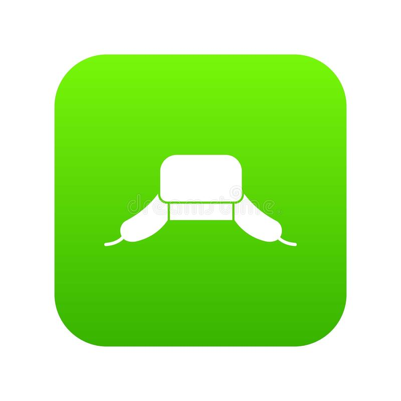 O chapéu com orelha bate o verde digital do ícone ilustração stock