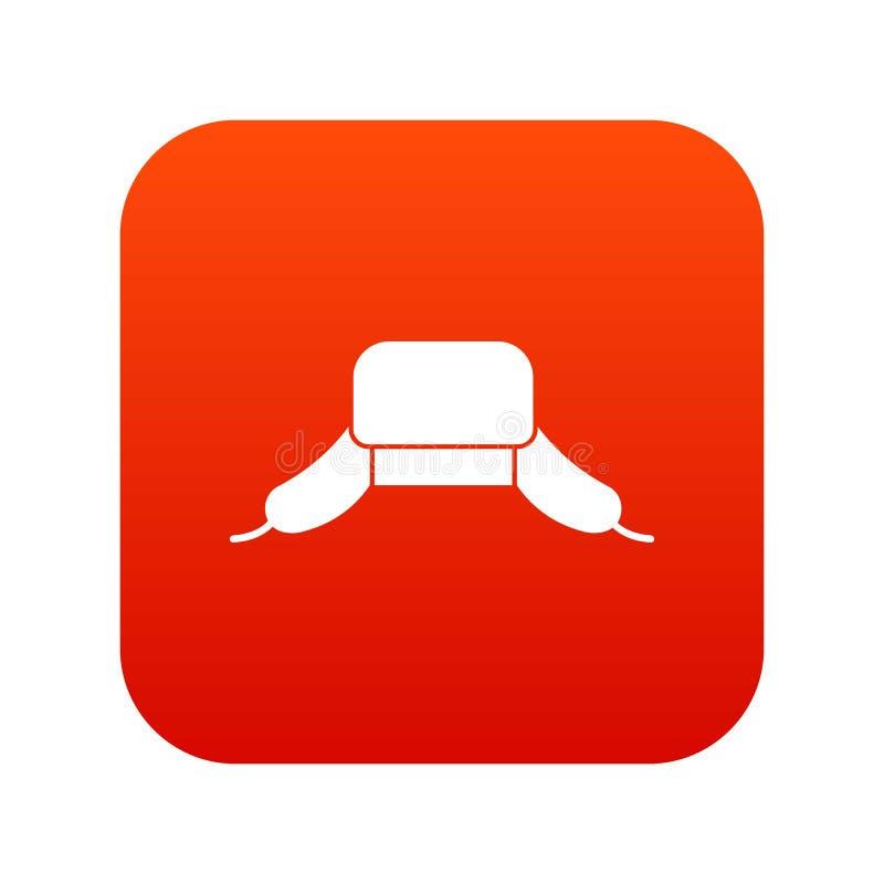 O chapéu com orelha bate o vermelho digital do ícone ilustração royalty free