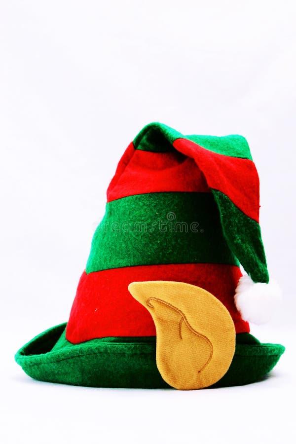 O chapéu do duende no branco foto de stock royalty free