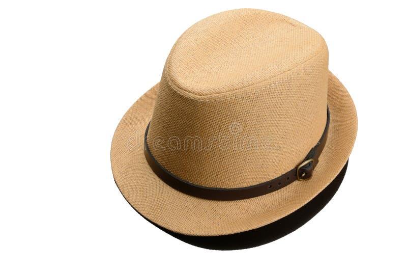 Download O Chapéu Dos Homens Isolado Imagem de Stock - Imagem de fundo, marrom: 29837747