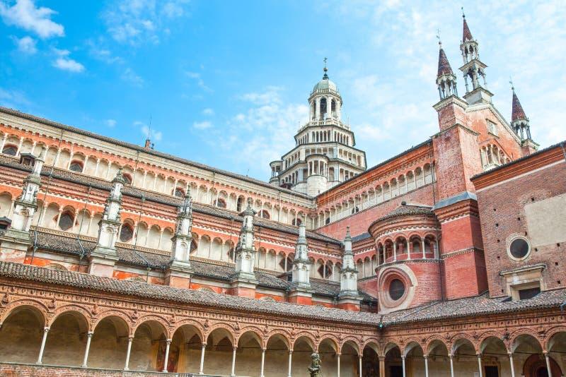 O Charterhouse de Pavia fotos de stock royalty free