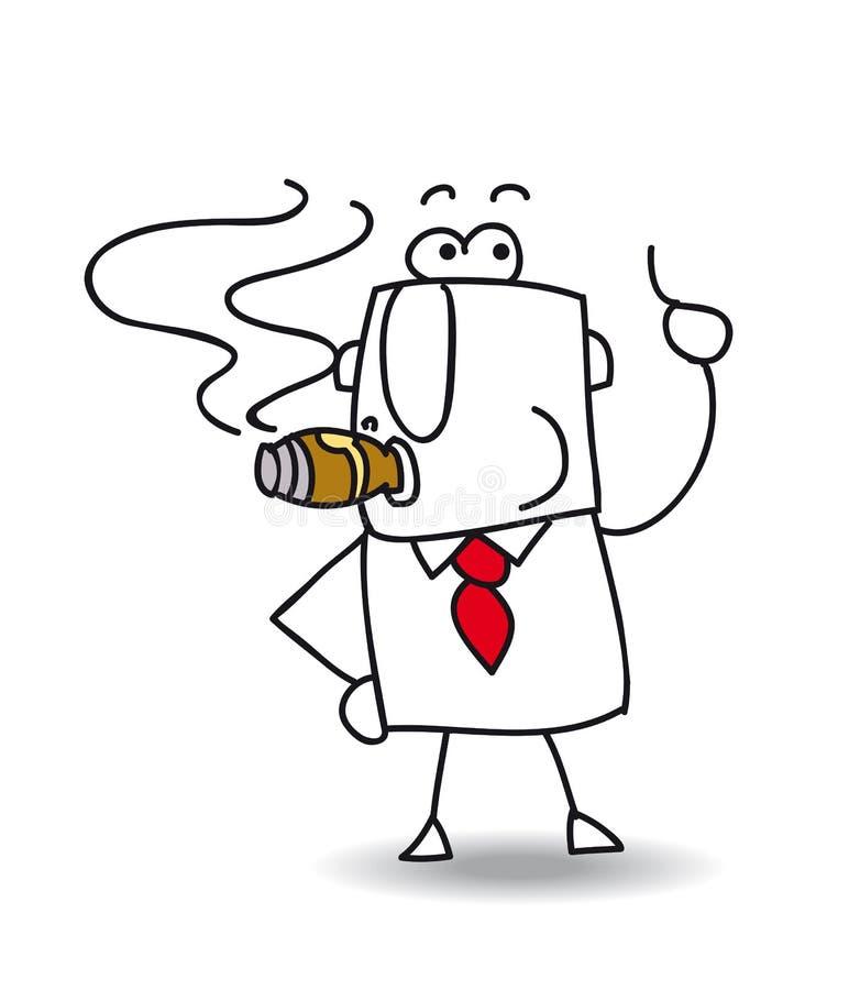 O chefe ilustração royalty free