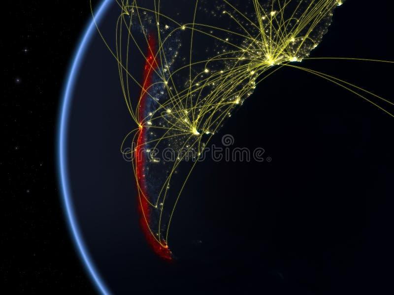 O Chile do espaço com rede fotos de stock royalty free