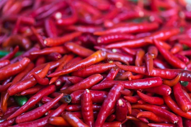 O Chile vermelho Papper no mercado fotografia de stock royalty free