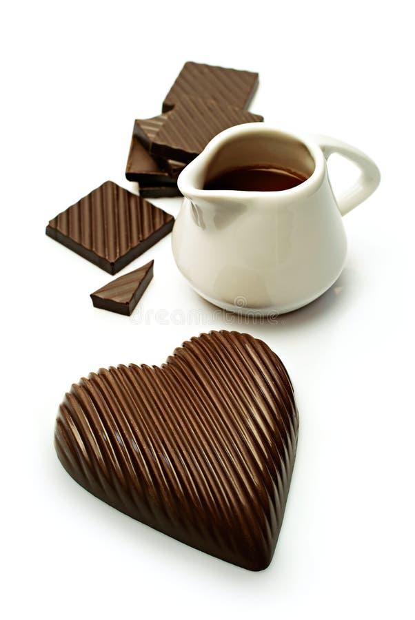O chocolate heart imagem de stock