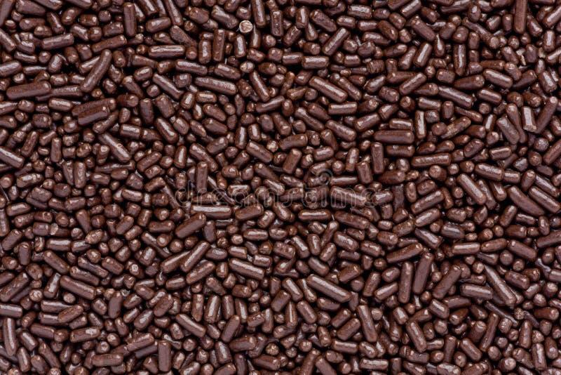 O chocolate polvilha imagem de stock