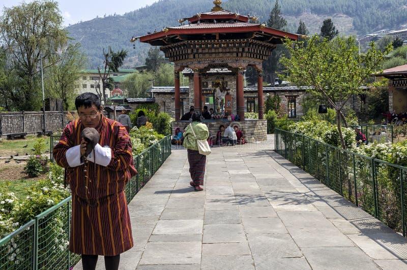 O Chorten memorável nacional situado em Thimphu, capital de Butão imagens de stock royalty free