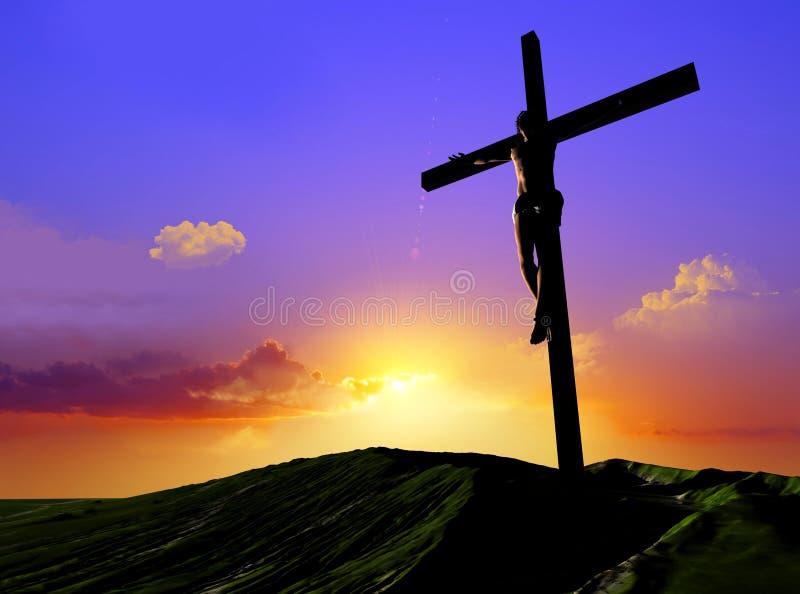 O Christ ilustração do vetor