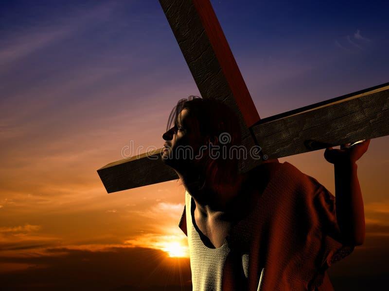O Christ ilustração stock