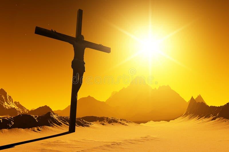 O Christ ilustração royalty free