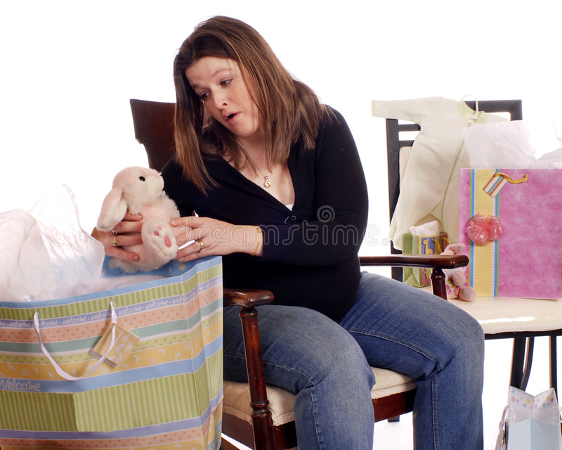 O chuveiro de bebê fotografia de stock