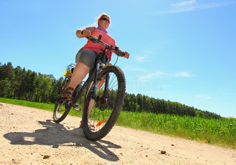 O ciclista fotografia de stock