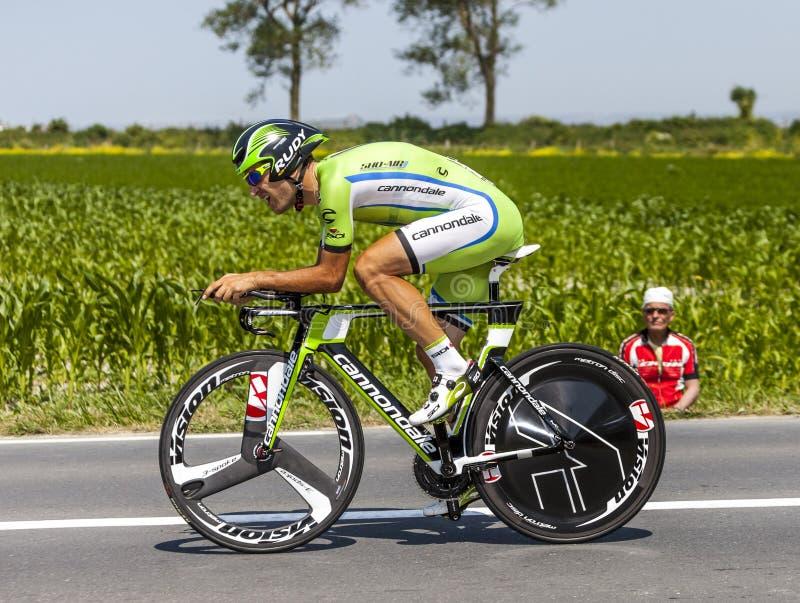 O Ciclista Alan Marangoni Foto Editorial
