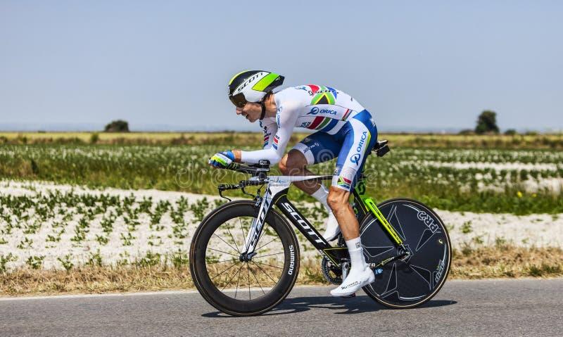 O Ciclista Daryl Impey Imagem Editorial