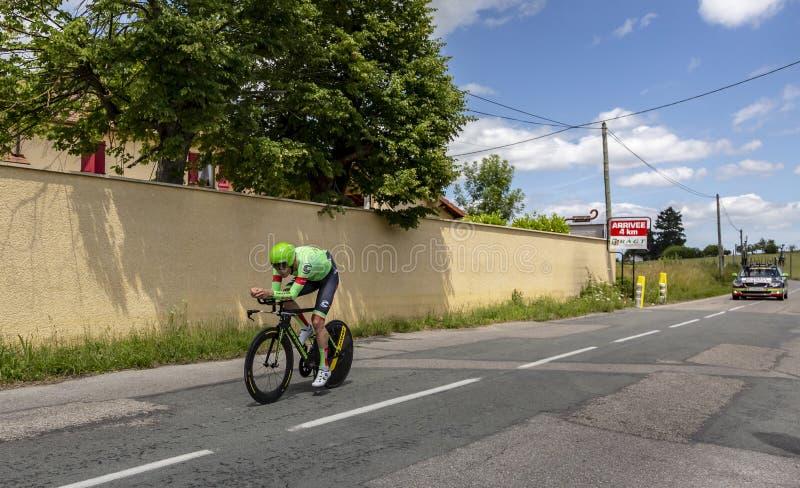 O ciclista Dylan van Baarle - Critério du Dauphine 2017 fotos de stock royalty free