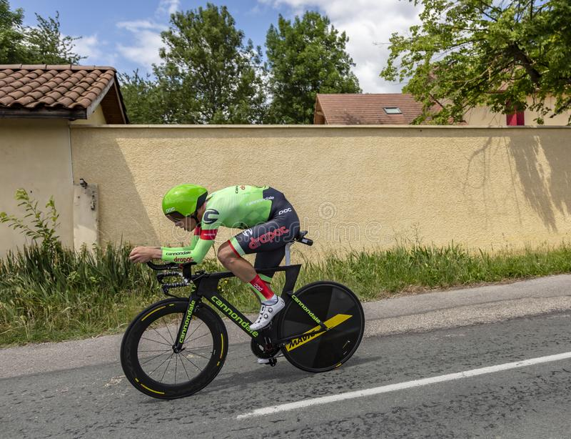O ciclista Dylan van Baarle - Crit?rio du Dauphine 2017 foto de stock