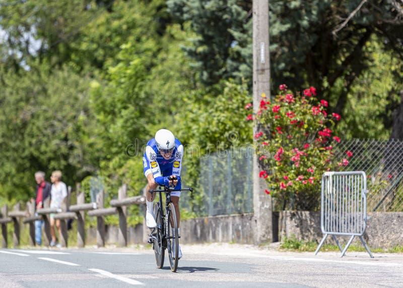 O ciclista Enric Mas Critério du Dauphine 2017 fotografia de stock