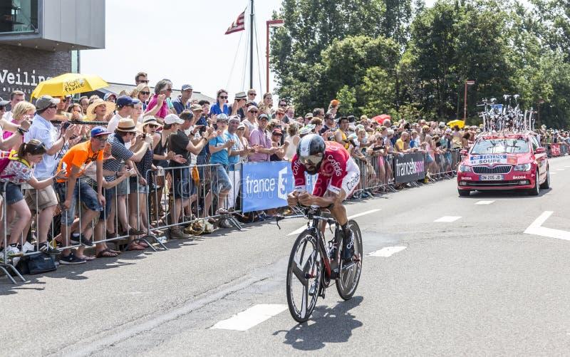 O ciclista Geoffrey Soupe - Tour de France 2015 fotos de stock