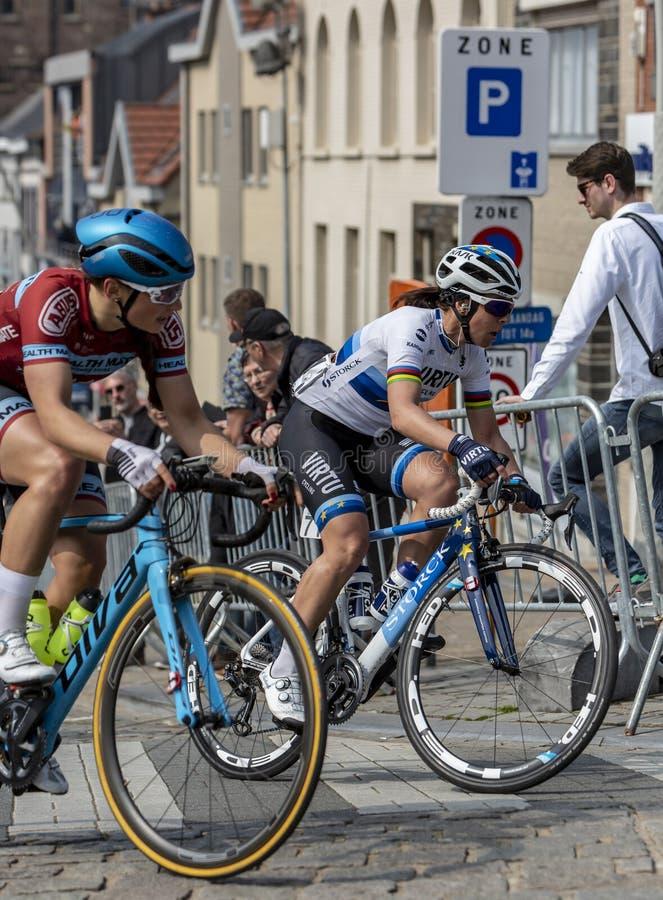 O ciclista Marta Bastianelli da mulher - excursão de Flanders 2019 imagem de stock royalty free