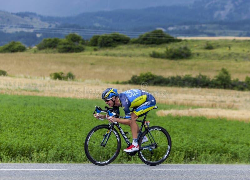 O ciclista Michael Rogers fotografia de stock