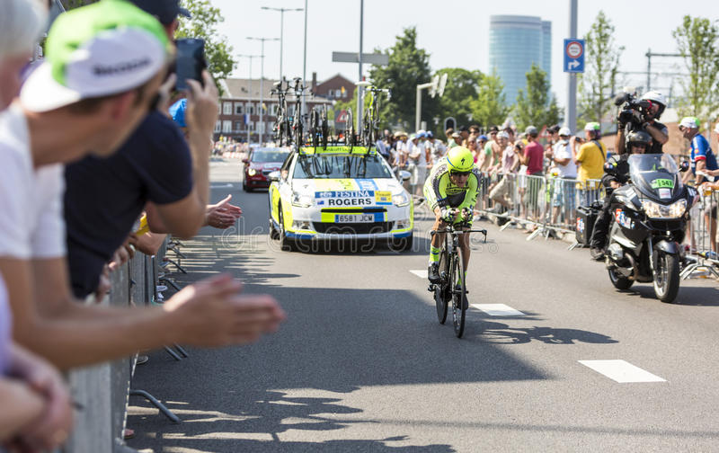 O ciclista Michael Rogers - Tour de France 2015 imagens de stock royalty free