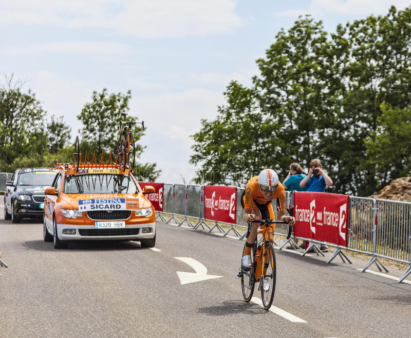 O ciclista Romain Sicard
