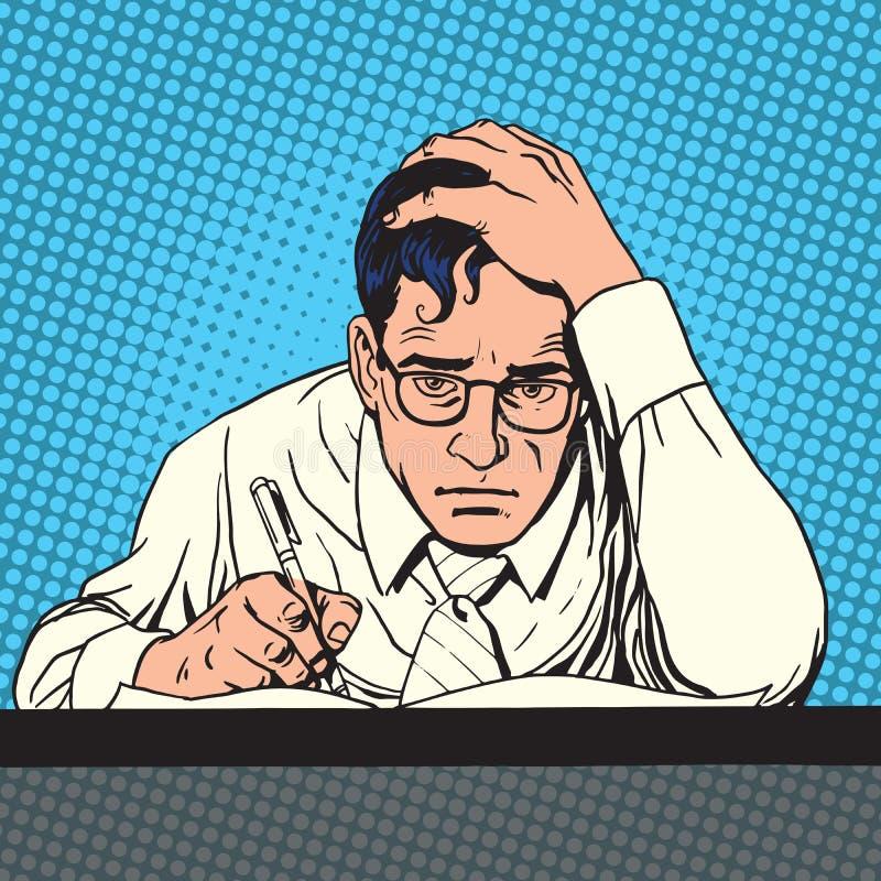 O cientista do journalista do escritor escreve O criativo ilustração stock