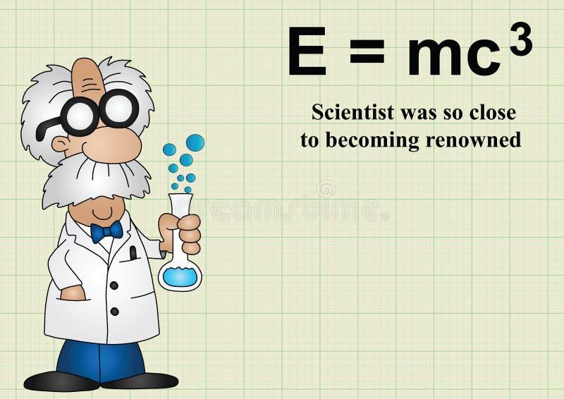 O cientista era tão perto a tornar-se ilustre ilustração stock