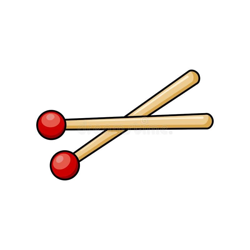 O cilindro cola o projeto do símbolo do ícone dos desenhos animados isolado no fundo branco ilustração stock