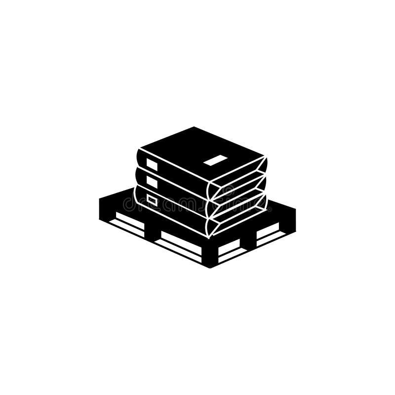 O cimento ensaca o ícone Elementos do ícone do constraction Projeto gráfico da qualidade superior Sinais e ícone para Web site, w ilustração do vetor