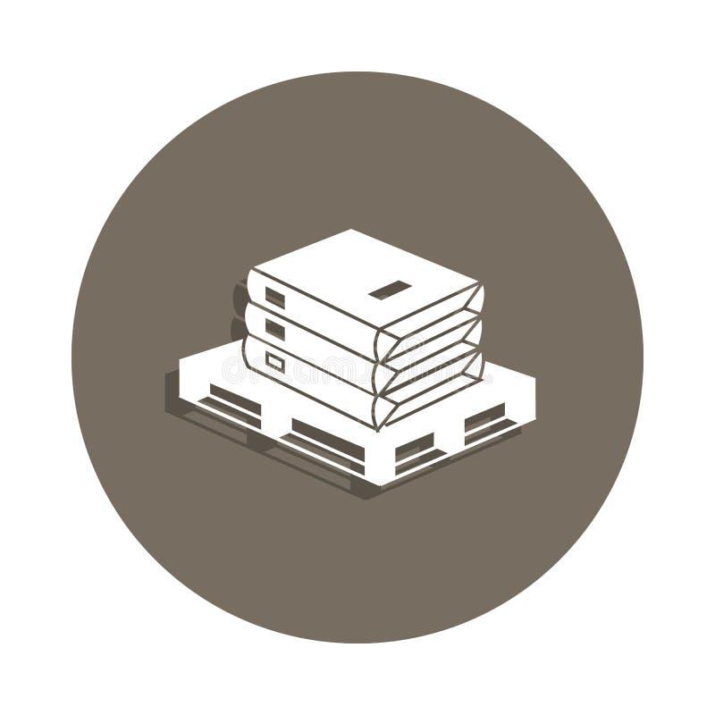 o cimento ensaca o ícone no estilo do crachá Um do ícone da coleção dos materiais de construção pode ser usado para UI, UX ilustração do vetor