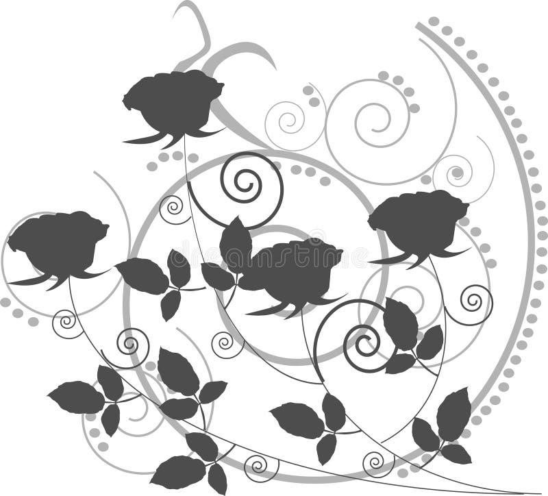 O cinza abstrato levantou-se ilustração royalty free