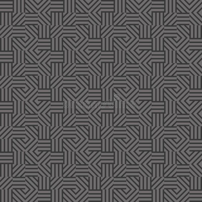 O cinza alinha a textura sem emenda ilustração royalty free