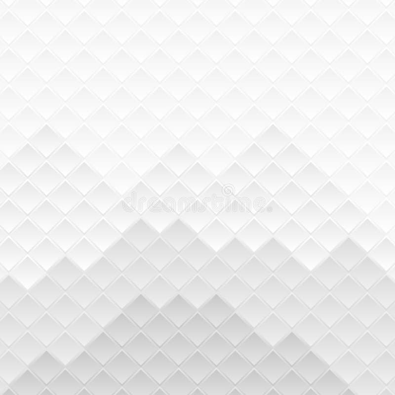 O cinza esquadra o fundo abstrato do teste padrão da tecnologia ilustração stock