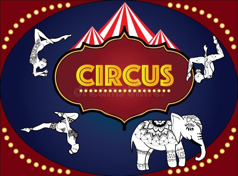 O circo ilustração stock