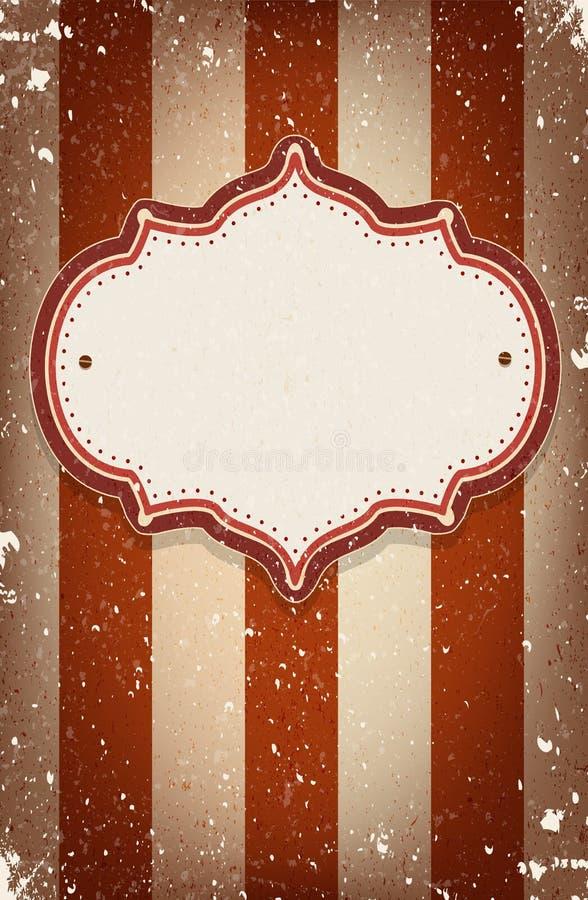O circo do vetor do vintage inspirou o quadro com um espaço para o texto ilustração royalty free