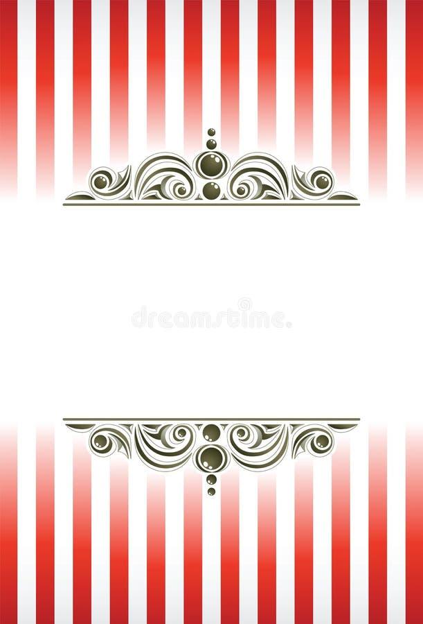 O circo ornaments o fundo. ilustração stock