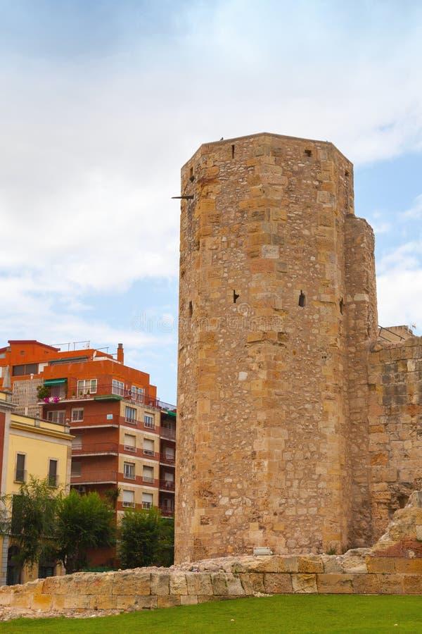 O circo romano Torre antiga em Tarragona, Espanha fotos de stock