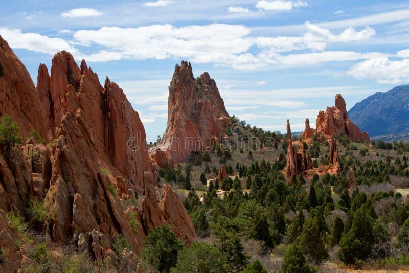 O clássico negligencia a vista do jardim dos deuses em Colorado Springs fotografia de stock