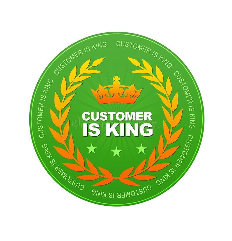 O cliente é rei ilustração royalty free