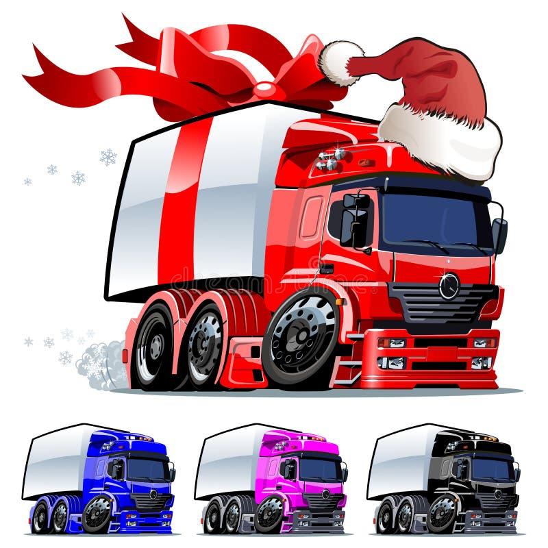 O clique do caminhão um do Natal do vetor repinta ilustração stock
