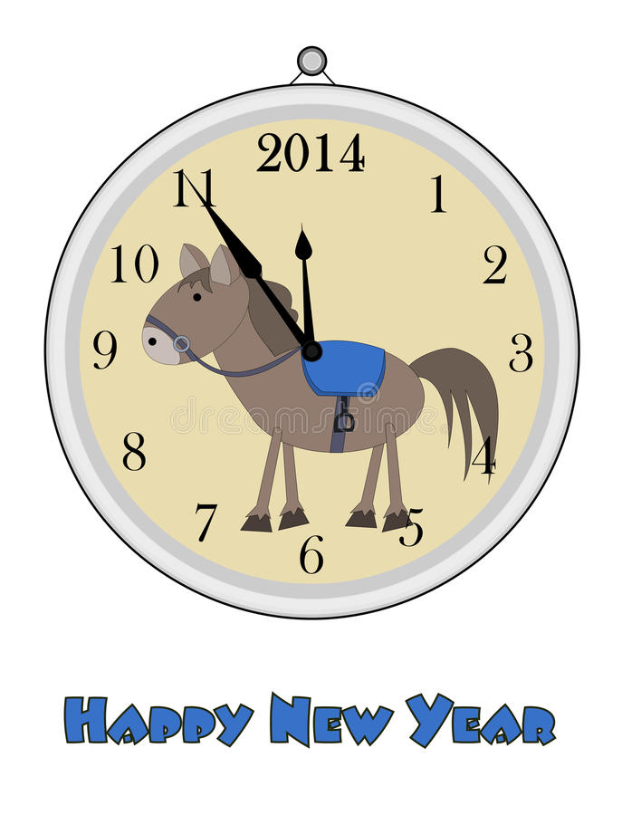 12 o'clock - Happy New Year stock images