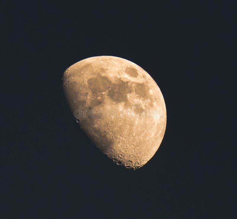 O close-up da lua imagem de stock