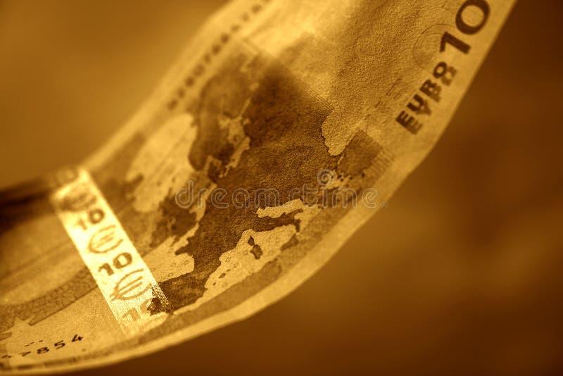 O close-up de 10 euro, II imagens de stock