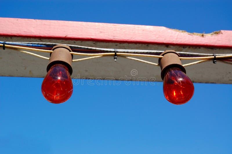 Luzes na montanha russa foto de stock